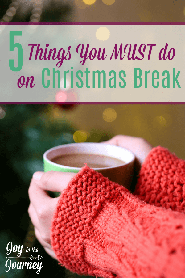 Christmas break is here for most of us! And school, and cleaning should not be on our to do list. But, here are some things that we MUST on Christmas break.