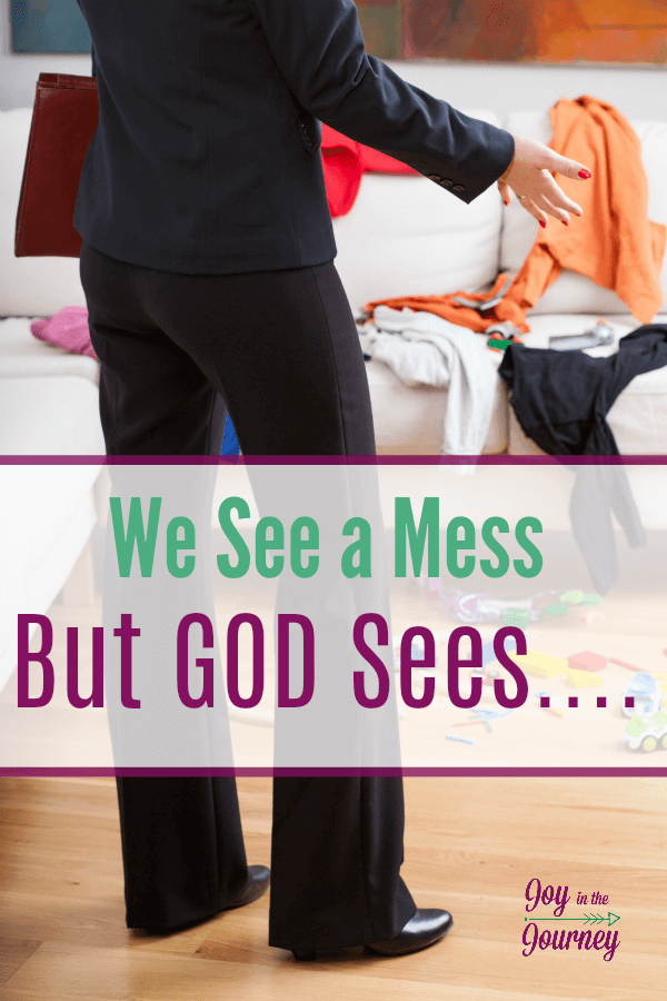 Do you go to bed each night feeling like a mess? God sees us as something totally different! Motherhood is kingdom work. And you are doing an amazing job!