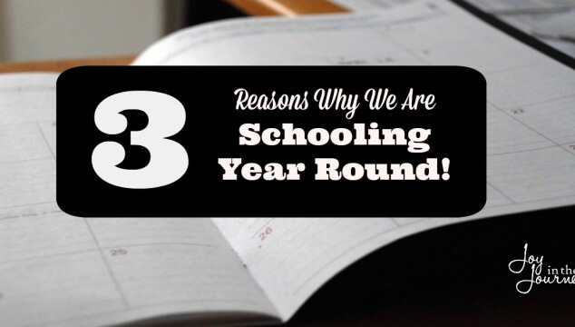 3 Reasons why we are Schooling Year Round!