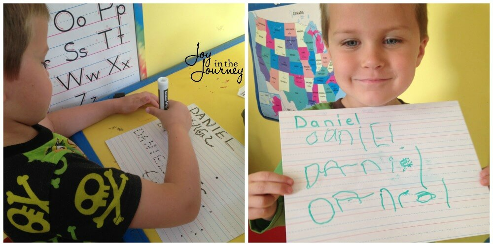 How to encourage writing in preschool? Offer materials that will make your child want to write.