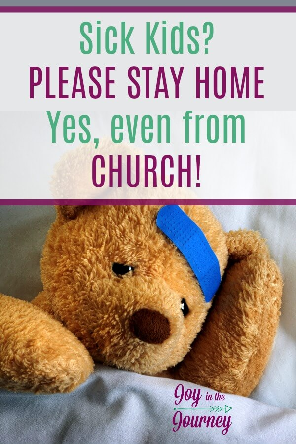 From tired moms everywhere I make a plea to the church regarding sickness.  DON'T encourage your congregation to come to church sick. DON'T roll your eyes when a family or an individual refuses fellowship because they don't want to get sick.