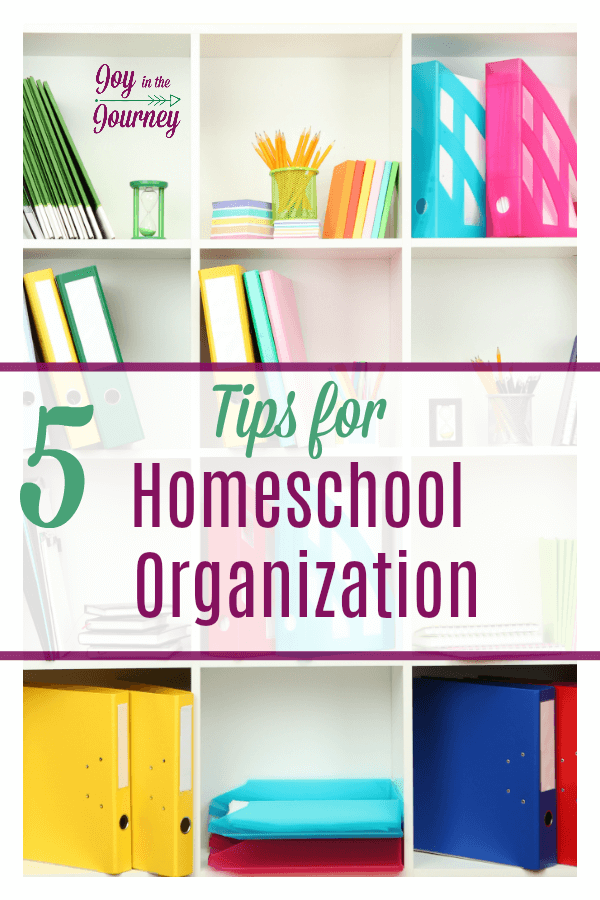 Homeschool organization is important in homeschooling, and being a little organized will help a lot. Here are five tips for homeschool organization that will help you on your homeschool journey! #homeschoolorganization #organization #schoolroom #homeschool #homeschooling #organizationtips #homeschooltips