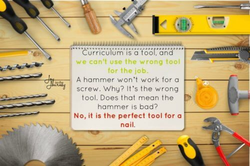 Curriculum is a tool, not a fix all
