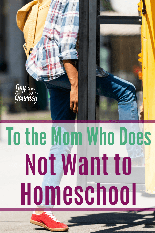 "Dear Mom who does not want to homeschool, I see you. I know how you feel. You like your freedom. You like the way things are. You don't want to be one of ""those"" people."