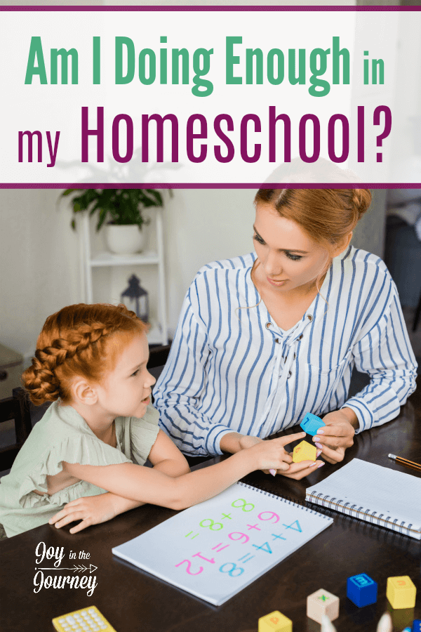 No matter how many years of homeschooling we have under our belt we all wonder, am I doing enough in my homeschool?