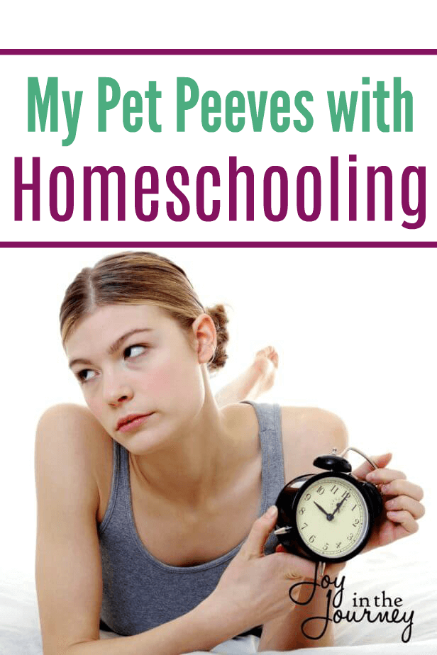 Homeschooling has it's good days and it's bad days, and with every day comes a few homeschool pet peeves.