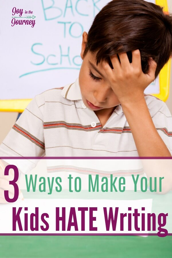 Want to make your kids hate writing? Of course not! But, if you are doing these three things you may be creating a reluctant writer.