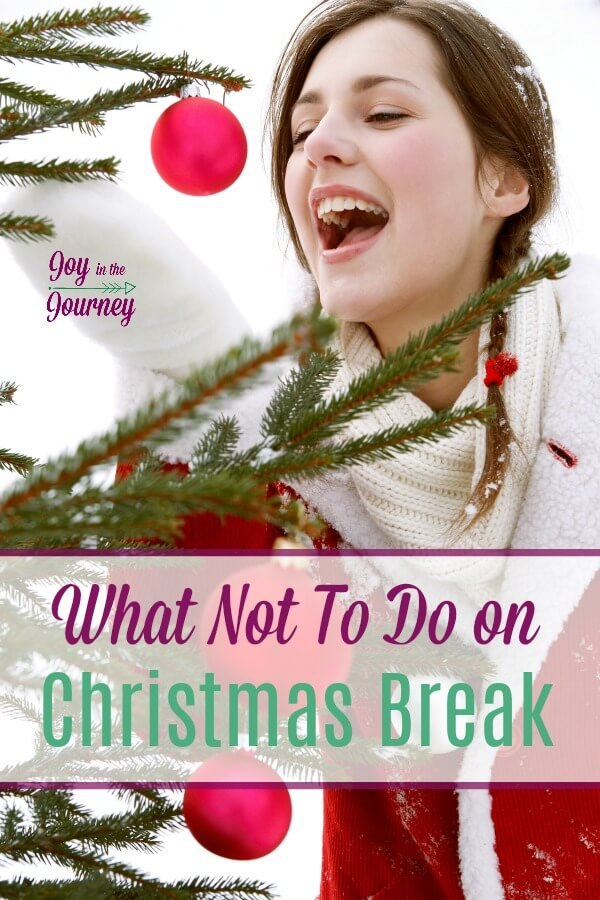 Homeschool moms don't get much of a Christmas break. I mean there are 500 things to do on Christmas break. But to TRULY have a Christmas break we homeschool moms have to say NO to a few things.