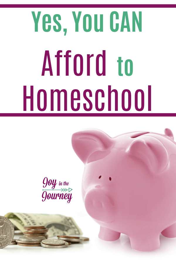 I can't afford to homeschool YES you can! There is this assumption that homeschooling costs a lot of money. And while homeschooling may cost a little bit, it is only as expensive as you let it be.