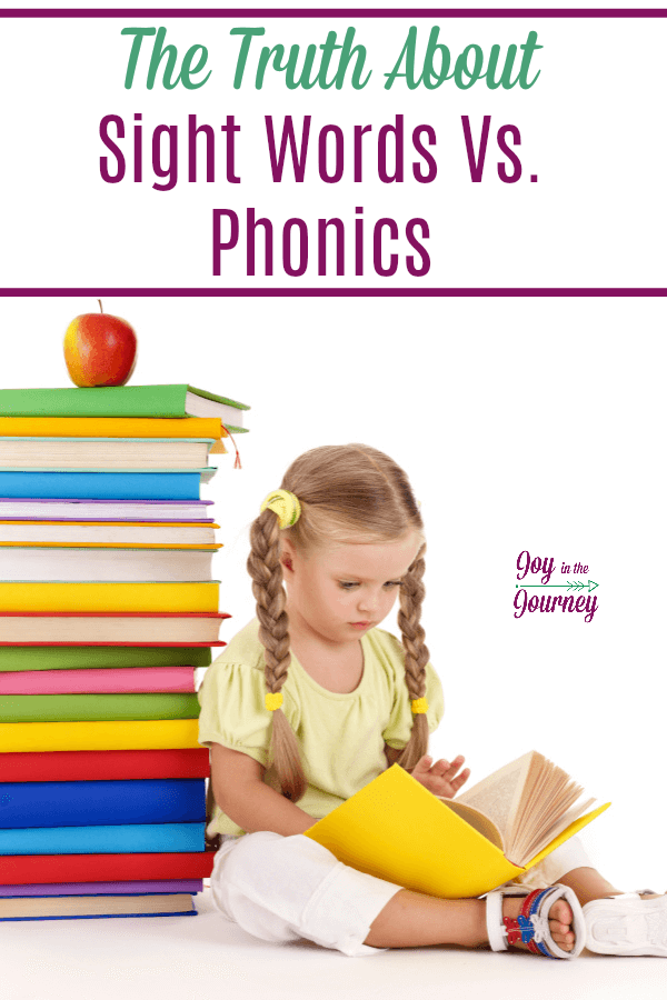 I used to scoff at teaching sight words, I taught phonics instead. But this year, I ate my words. I finally learned the truth about sight words vs. phonics. #sightwords #phonics #teachingreading #teachsightwords #teachphonics #reading #homeschool #homeschooling