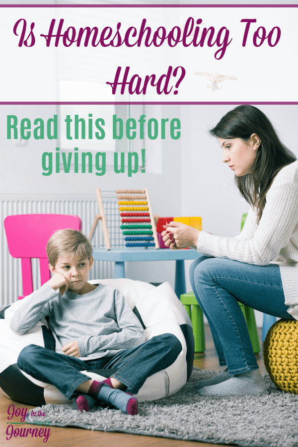 Think you can't homeschool because homeschooling is hard? The benefits of homeschooling make it worth the hard work!  #homeschooling #homeschoolingishard #homeschoolhelp #homeschooltips #JoyintheJourneyBlog #ihsnet