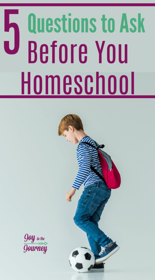 Before you homeschool you should ask yourself a few questions. These questions can help you get through your first year of homeschooling like a pro!