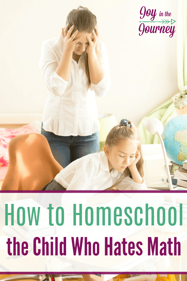 Do you have a child who hates math? I had no clue how to homeschool the child who hates math, and realized I was doing it ALL wrong! Here's how to do it right!