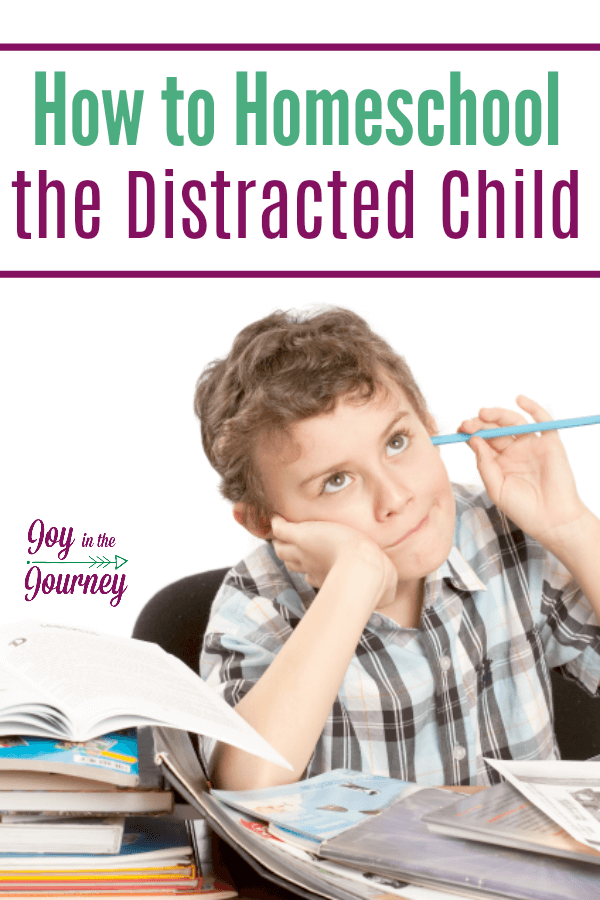 Homeschooling a distracted child can be a challenge. It can make for a long homeschool day and a frustrated mom and child. Here are some tips for how to homeschool the distracted child.