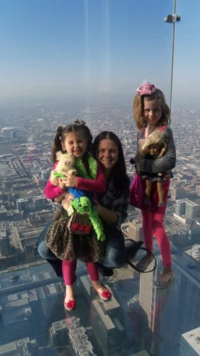 The girls and I at Willis Tower in Chicago.