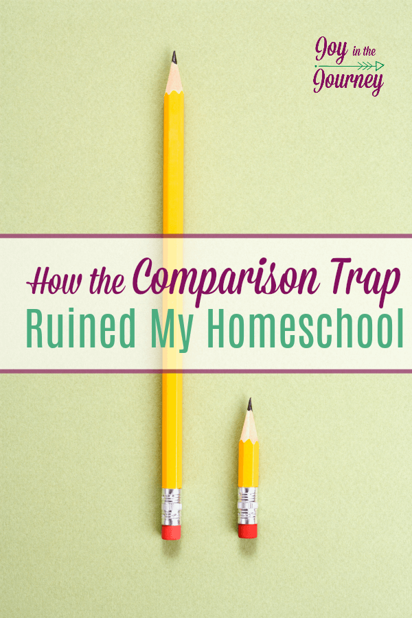 Have you ever fell into the comparison trap? I have. And when I did homeschooling went from being enjoyable to a chore. Comparison had ruined our homeschool. Don't let that happen to you!