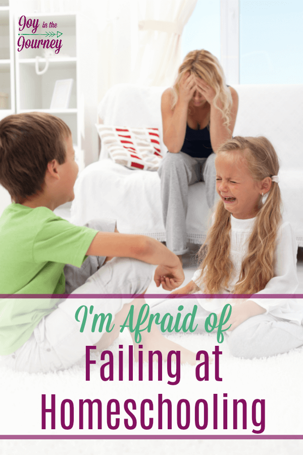 Homeschool mom fears, we all have them. But why? The fear of homeschooling steals our joy, make us doubt our ability, and leave us feeling less than we are. But, it doesn't have to be this way.  Let's conquer the fear of failing at homeschooling together.
