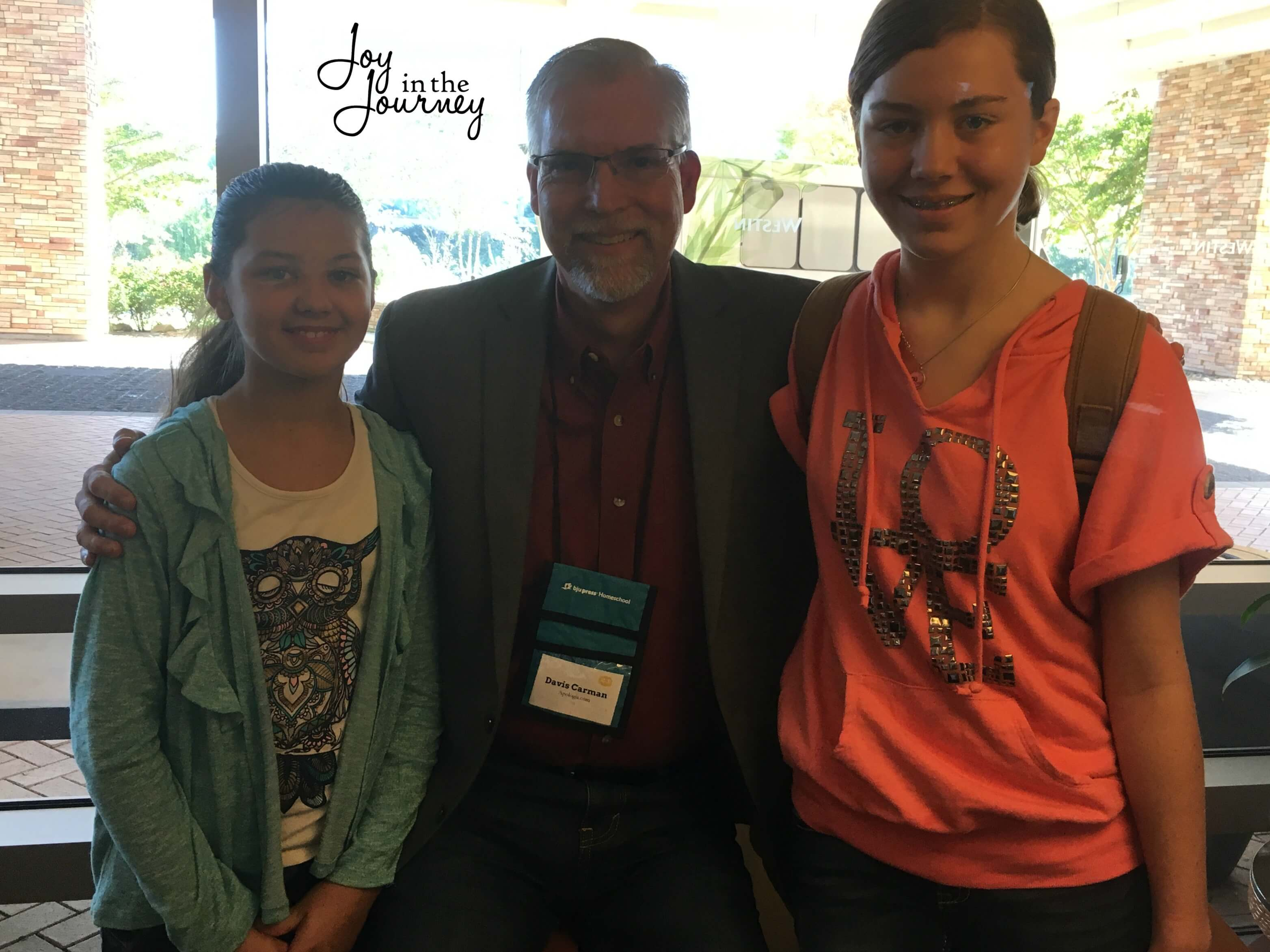 The girls loved meeting Davis Carman from Apologia while at the conference. He was telling them about some upcoming projects they are working on and let's just say we are all pretty excited about them!