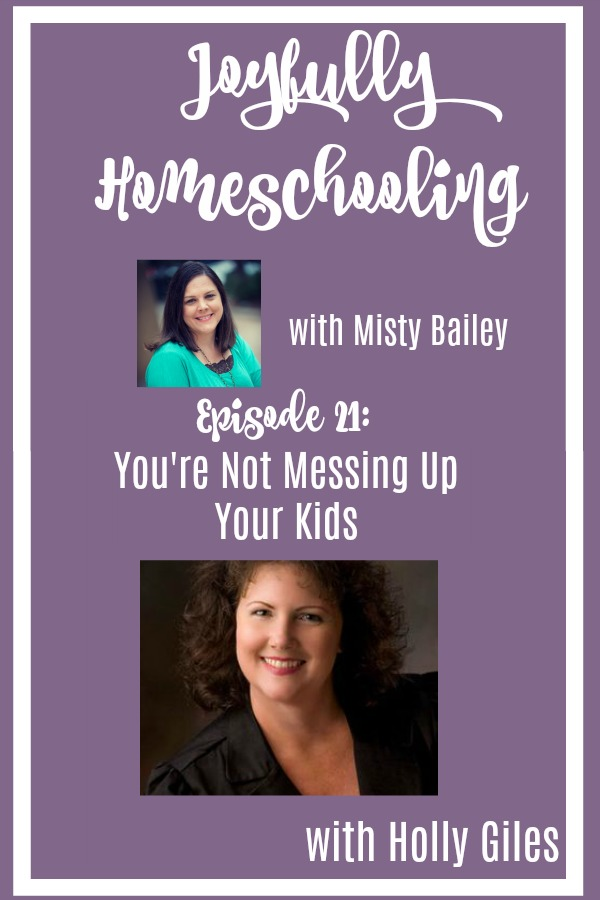 Will homeschooling mess up my kids? I have heard this question before, and that is why I am so excited to have Holly Giles on the podcast sharing with me that homeschooling is NOT going to mess up my kids. It may just help them become exactly who God wants them to be.