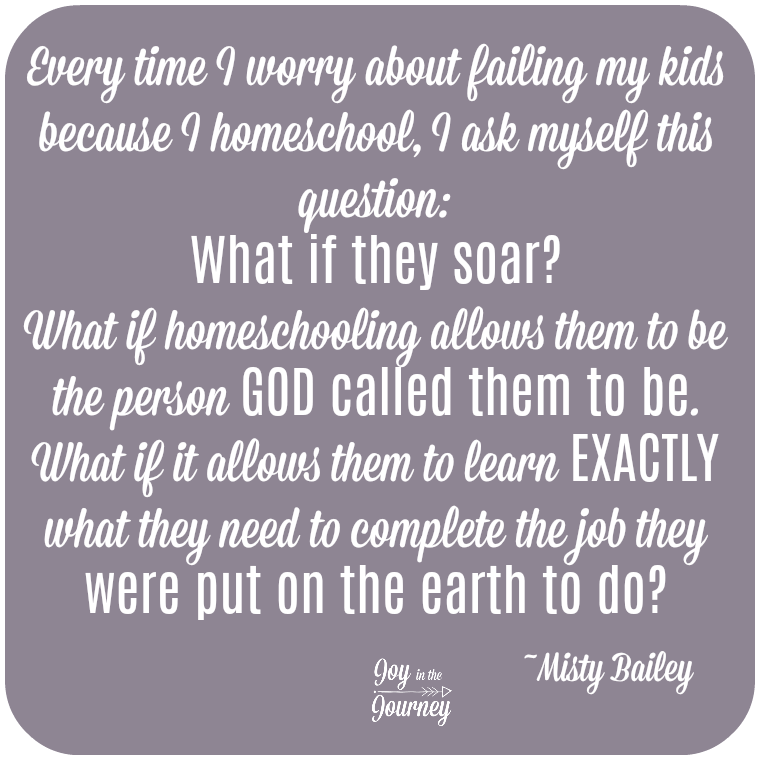 Fearing homeschool failure? What if they soar? What if homeschooling allows them to be exactly what God designed them to be.