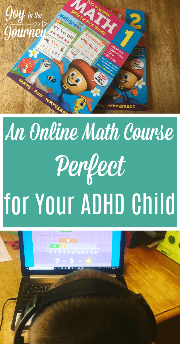 Do you have a young child with ADHD that struggles with math? Try this online math course PERFECT for the ADHD child. With fun, games, worksheets and more, your child will be begging to do math. . #math #ADHD #onlinelearning #Mathseeds #homeschool #curriculum #homeschooling #ihsnet