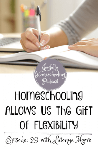 I am chatting about the gift of flexibility, planning, high school and more with Latonya Moore from Joy in the Ordinary. This episode will encourage you to have a more joyful and flexibile homeschool!