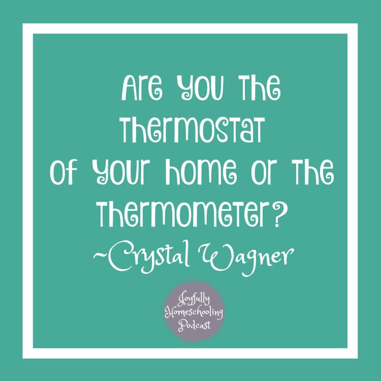 The tone in your home matters. Struggle with patience in your homeschool? Are you the thermostat or the thermometer