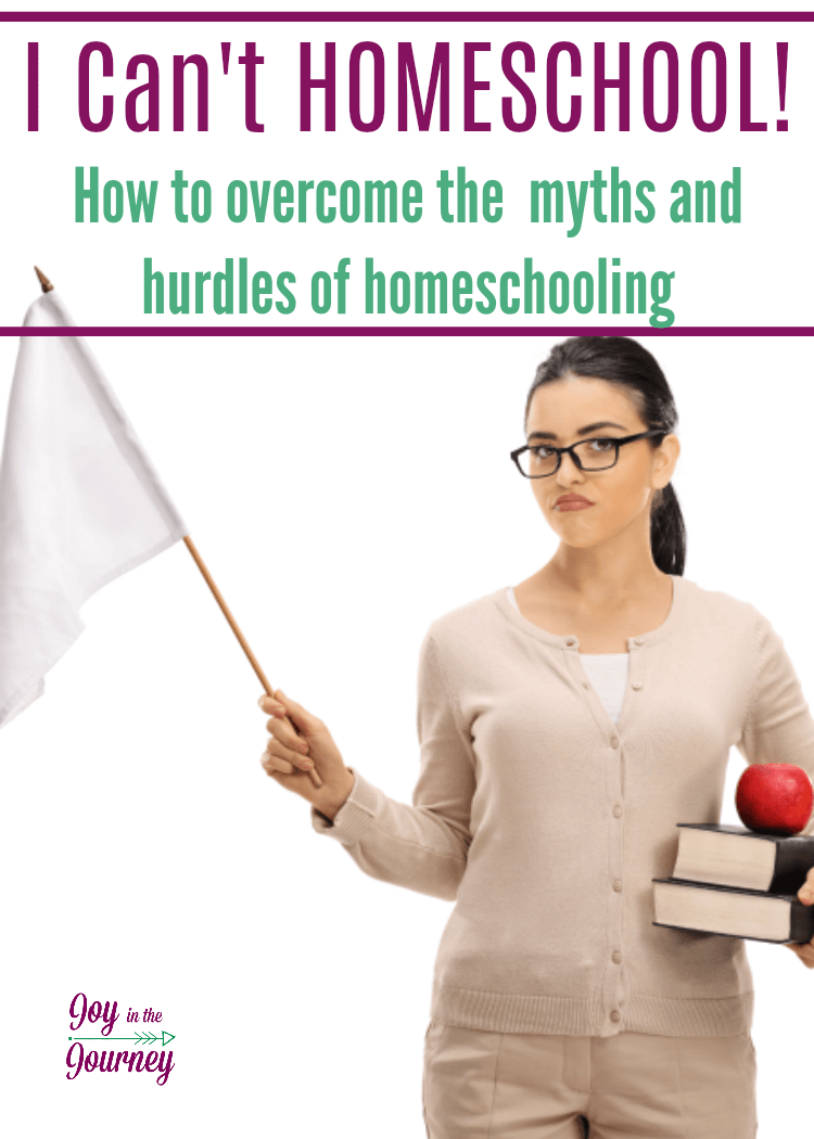 Through the years I have heard many, many, reasons as to why people can't homeschool. We are going to investigate those reasons not to homeschool and show how you can overcome them.