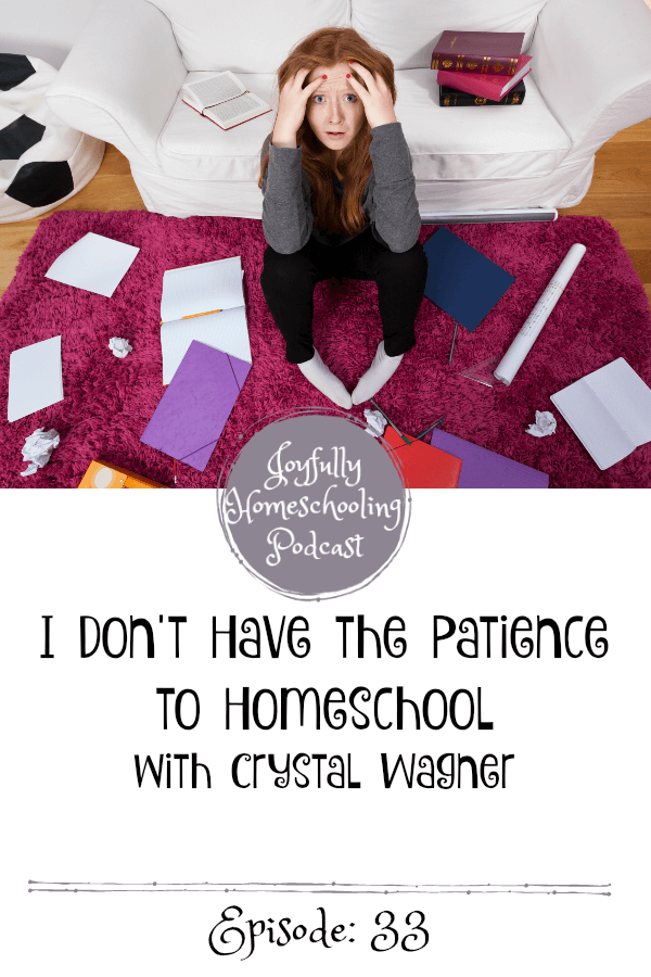 Have you ever struggled with having the patience to homeschool? In this episode Misty and her guest Crystal Wagner are chatting homeschooling, the tone of our homes and whether or not you need patience to homeschool.
