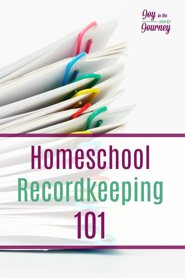 Homeschool recordkeeping will look different in each family, If you have never kept records before, now is a good time to begin.