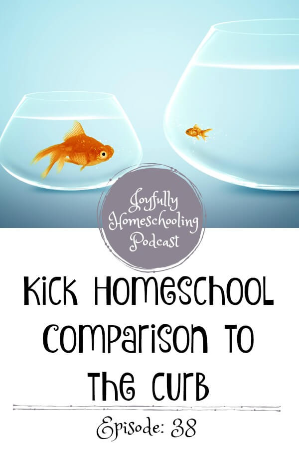 If left unchecked homeschool comparison can wreck your homeschool. In this episode of the Joyfully Homeschooling podcast I am chatting all about comparison and three things to remind yourself.