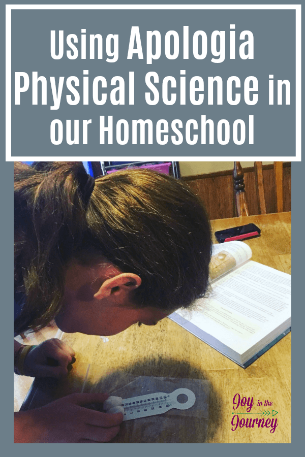 As my daughter has entered into high school level homeschool courses, we wondered how to approach Physical Science. She isn't exactly science-minded. Insert Apologia Physical Science! A great course for homeschool families.