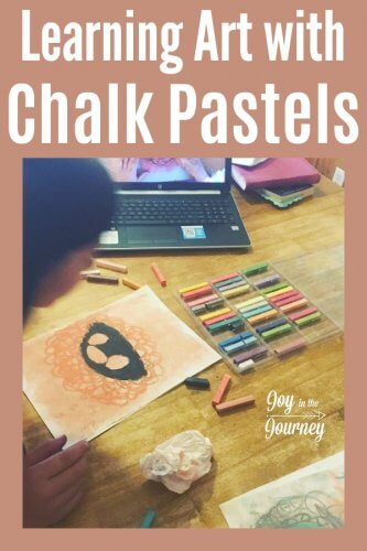 Have a child interested in chalk pastels? You are an Artist homeschool art program is a great way to introduce chalk pastels for kids.