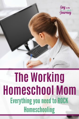 Can you work and homeschool? Yes! We are breaking down how to manage life as a working homeschool mom. From daily schedules, to curriculum and more. You can work and homeschool!