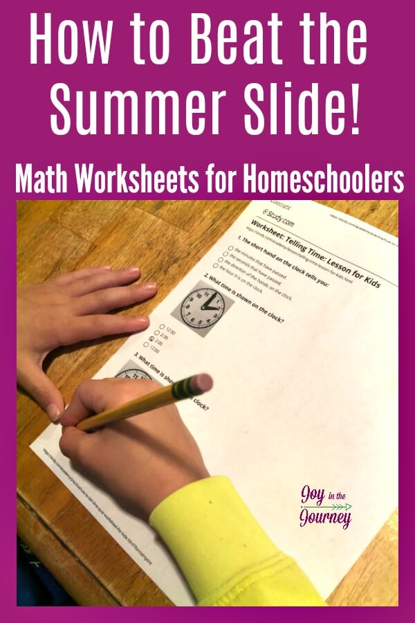 Looking forward to a summer off? Me too! However, I was also worried about the summer slide when it comes to math. But, not anymore! Beat the summer slide with these math worksheets for homeschoolers