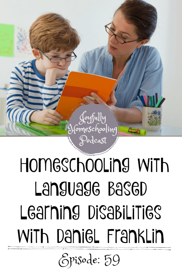 In this episode, we chat all about language-based learning disabilities, which to me, was a new term. Dr. Daniel Franklin breaks down the term, diagnosis and so much more.