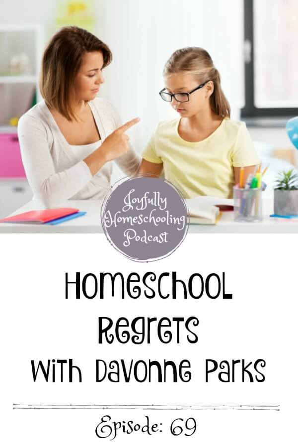 In this episode, Davonne and I chat homeschool regrets, what we were like when we first began homeschooling, and how we have changed through the years. Guys, this episode will give you a peek into what I was REALLY like as a new homeschool mom. We also chat what it is like to be a working outside the home, homeschool mom, and how you can homeschool when your life is in chaos. Literally.