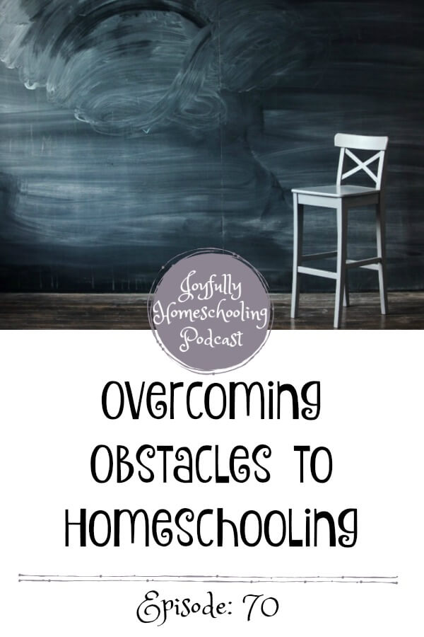 Today we are kicking off a brand new series on overcoming obstacles to homeschooling. This series will be about my guest's stories regarding obstacles that for many, would stand in the way of homeschooling.