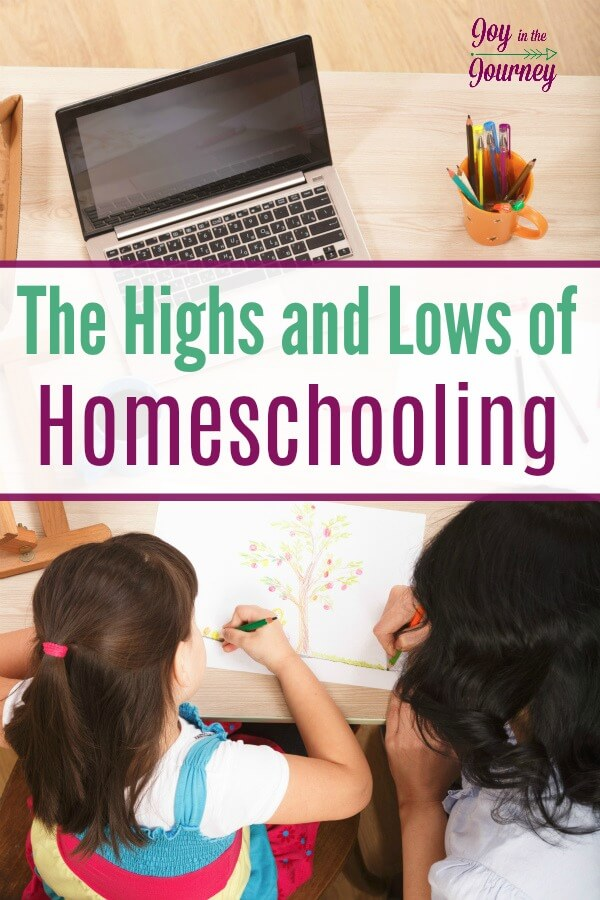 Through the years we have experienced many highs and lows of homeschooling. As homeschool moms, we need to realize that with every high, there will be lows. There are seasons of homeschooling and sometimes we have to take the good with the bad.