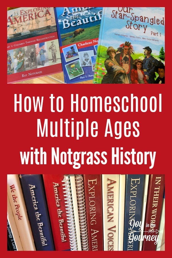 Are you considering Notgrass History, but not sure how or if you can use it with multiple grades? This blog post breaks down exactly HOW you can use Notgrass History with ALL of your kids.