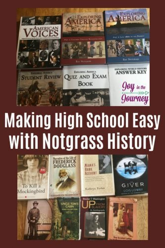 Does the thought of homeschooling high school stress you out? Notgrass History makes homeschooling high school easy. Take a look at all that Notgrass has to offer your homeschooled teen.