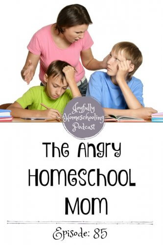 Do you struggle with being an angry homeschool mom? I hear you! I have struggled with anger for years, and I am still making imperfect progress. Today we are talking about the angry homeschool mom and how you can recognize your triggers and be a more joyful homeschool mom.