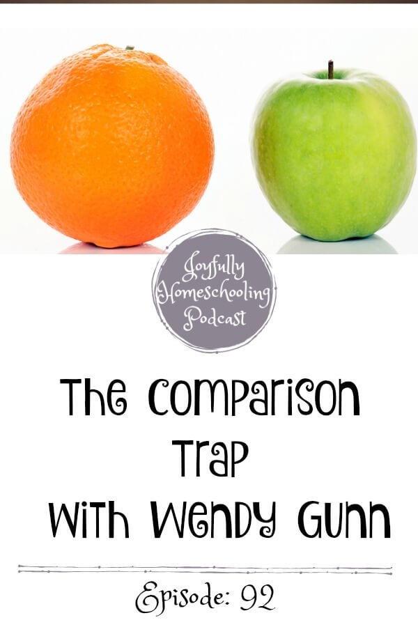 The comparison trap is a real struggle for homeschool moms everywhere. We compare ourselves to other moms and in turn, lose our joy. We are tackling this topic with Wendy Gunn on the podcast.