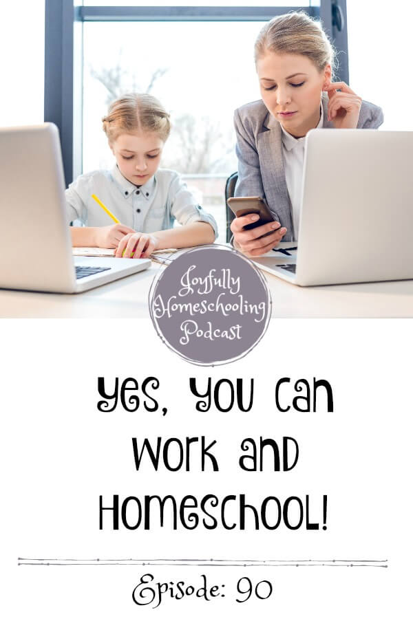 Can you work and homeschool? Yes, you can! I am sharing how you can do it, tips to get started and how to manage it all.