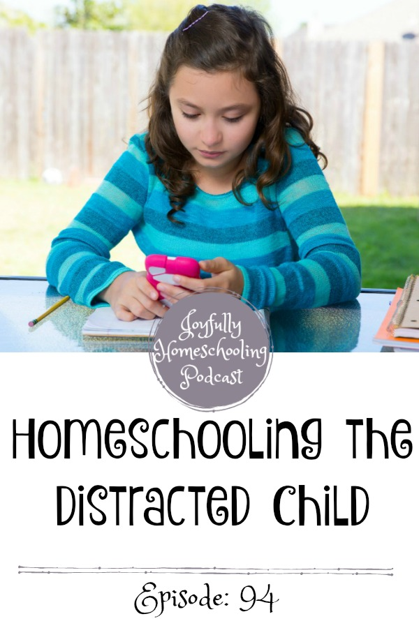 Are you homeschooling a distracted child? This can be EXHAUSTING, but there is HOPE! Here are some tips and encouragement that can help you learn how to homeschool a distracted child.