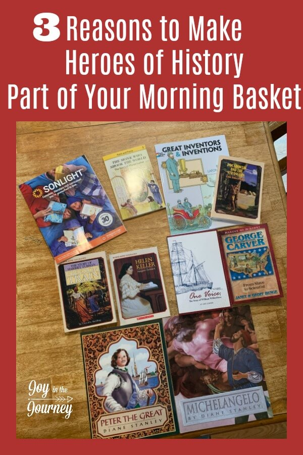 Connect your kids with history using this heroes of history bundle for your morning basket. Let's take a look at some of the amazing resources you can use to connect the history your kids are learning about to some amazing heroes of history from the same time period.