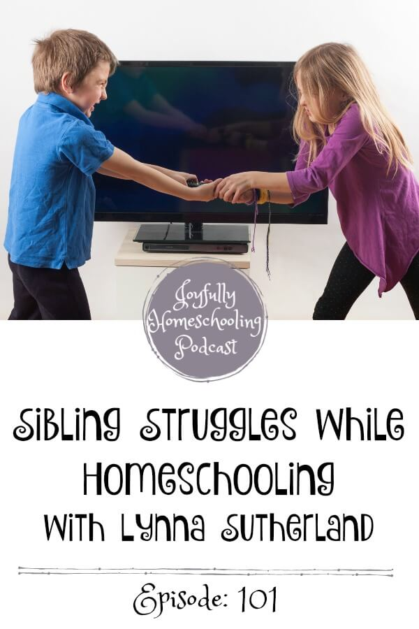 Sibing struggles are real, and as homeschoolers, our kids are together, a LOT. How can you beat the sibling blues? We are chatting this topic with mom of 8, Lynna Sutherland from Homeschooling without Training Wheels.