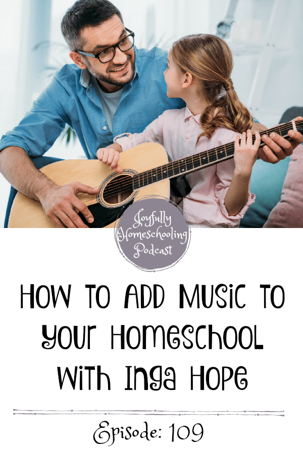 Do you struggle with how to add music to your homeschool? Inga Hope and I are answering your questions and chatting all things music and homeschooling!