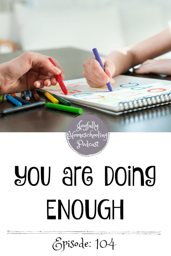 Are you doing enough? In the midst of our world being thrown into chaos, many of us have been trying to keep up with our homeschool. However, distraction, worry, and isolation have many of us not quite getting it all done. Is what we are doing enough? Let's talk about it!
