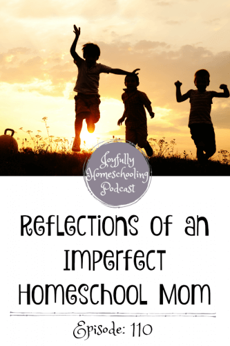 "Have you ever struggled with having an imperfect homeschool? Do you long for homeschool perfection? Do you feel like you are not a ""good"" homeschool mom? Today I am reflecting on homeschooling, the good and the bad, and why it's rarely perfect."